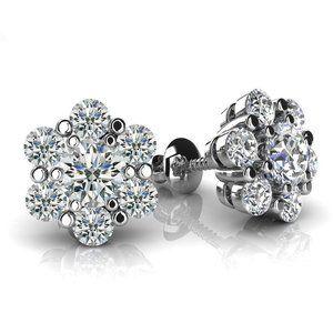5.00 Ct round cut diamonds flower shaped women stu